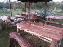 Tables for the farm dinners